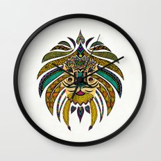 Emperor Tribal Lion Wall Clock
