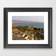 Israel & Jordan on the Gulf of Aqaba Framed Art Print