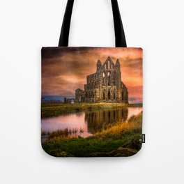 Red Gothica Tote Bag