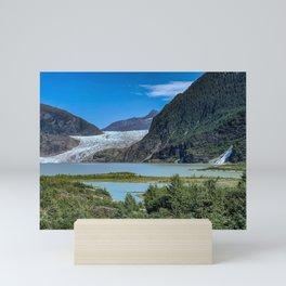Glacier Meets Water Mini Art Print