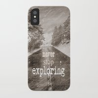 """never stop exploring iPhone & iPod Cases featuring """"Never stop exploring ... forests"""" by Guido Montañés"""