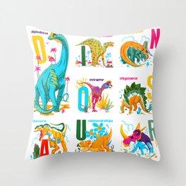 Alphasaurus Rex Throw Pillow