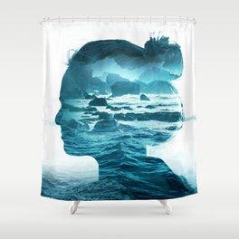 The Sea Inside Me Shower Curtain