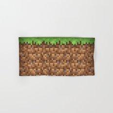 Minecraft Dirt Block Hand & Bath Towel
