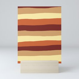 Mid Century inspired pattern design Mini Art Print
