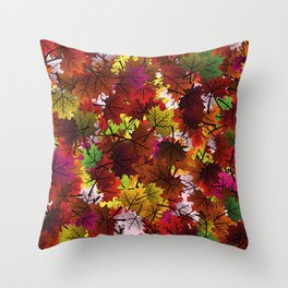Feeling the autumn Throw Pillow