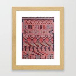 V21 New Traditional Moroccan Design Carpet Mock up. Framed Art Print