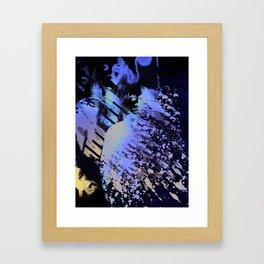 Splatter-Portrait Framed Art Print