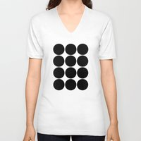 large V-neck T-shirts featuring Large Circles by Emily Kenney