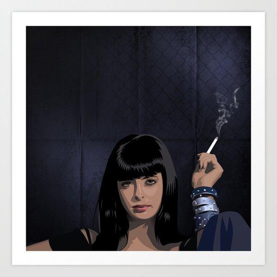 Breaking Bad Illustrated - Jane  Margolis Art Print