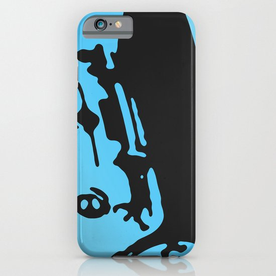 Fiat 600 Detail, Light Blue on Black iPhone & iPod Case