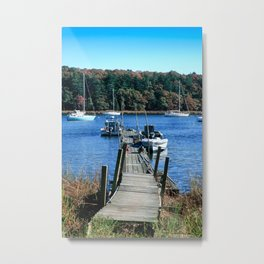 Well Worn Dock Metal Print