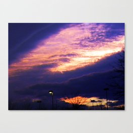 Scary skies Canvas Print