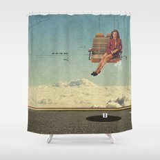 Up In The Air | Collage Shower Curtain