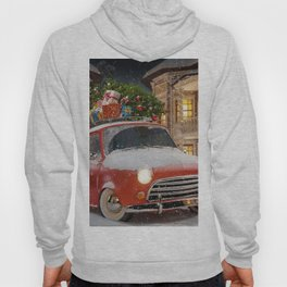 Christmas gifts New Year car with gifts 2017 Christmas Tree New Years Eve Hoody