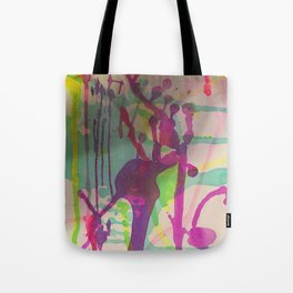 Water Color Frenzy Tote Bag