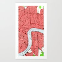 new orleans Art Prints featuring New Orleans by Larsson Stevensem