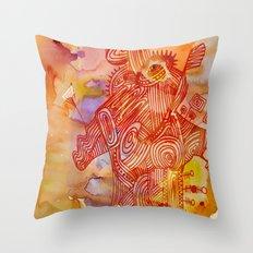 abstract nonsense Throw Pillow