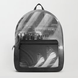 New York Grand Central Train Station Terminal Black and White Photography Print Backpack