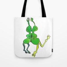 lesbian space alien seeks same Tote Bag