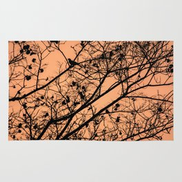 Sunset silhouettes Rug