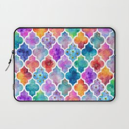Colorful Watercolor Moroccan Pattern - I Laptop Sleeve