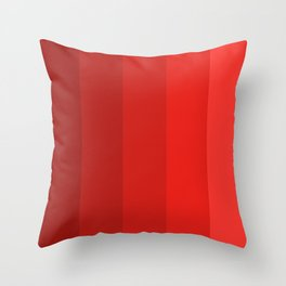 Red Striped Color Gradient Throw Pillow