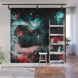 guinea pig colorful side portrait ws2s Wall Mural