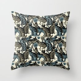 cat play Throw Pillow