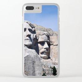 Mt Rushmore Clear iPhone Case