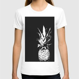 Pineapple Black and White #decor #society6 T-shirt
