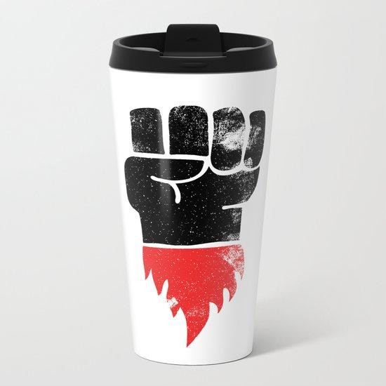 Resist Fist Metal Travel Mug