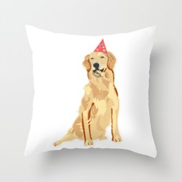 Birthday Puppy! Throw Pillow