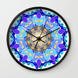 Floral circular ornament Wall Clock