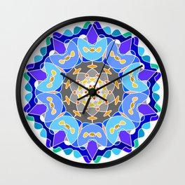Floral circular ornament Wall Clock