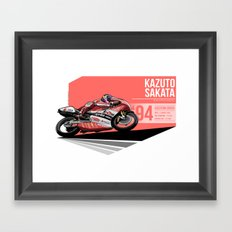 Kazuto Sakata - 1994 Eastern Creek Framed Art Print