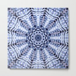 Blue Scale Mandala Metal Print