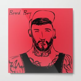 Beard Boy Tattoo 3 Metal Print