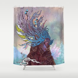 Journeying Spirit (Bear) Shower Curtain