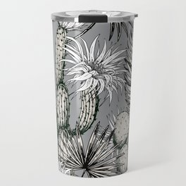 Cactuses with flowers Travel Mug