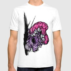Skull CRUNCH ! White SMALL Mens Fitted Tee