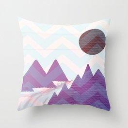 Chevron Mountains Throw Pillow