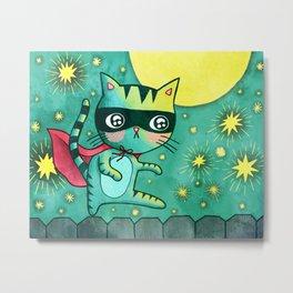 Cat Bandit Metal Print