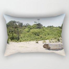 Driftwood on Assateague Island Rectangular Pillow