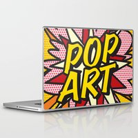 comic book Laptop & iPad Skins featuring Comic Book POP ART by The Image Zone