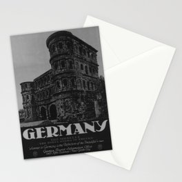 retro classic Germany poster Stationery Cards