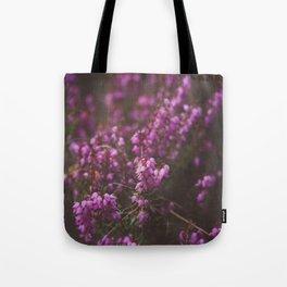 Purple Little Flowers in My Garden Tote Bag