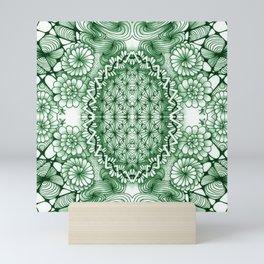 Jade Zentangle Tile Doodle Design Mini Art Print