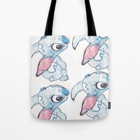 stitch Tote Bags featuring Stitch by Art By JuJu