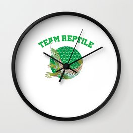 Team Reptile Tetrapod Animal Reptilia Herpetology Reptilian Cold Blooded Animal Gift Wall Clock